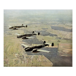 WWII Three Messerschmitt ME-110 Poster