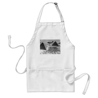 WWII Transport Planes Flying Over Pyramids Adult Apron