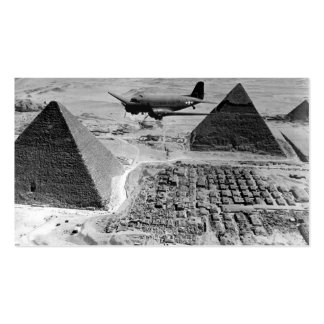 WWII Transport Planes Flying Over Pyramids Business Cards