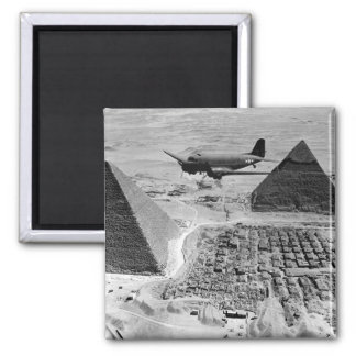 WWII Transport Planes Flying Over Pyramids Magnet