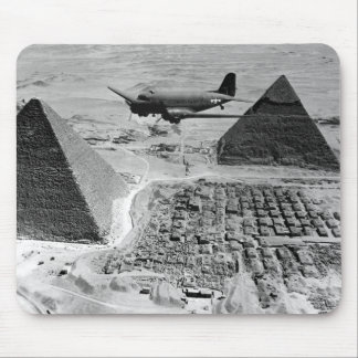 WWII Transport Planes Flying Over Pyramids Mousepads
