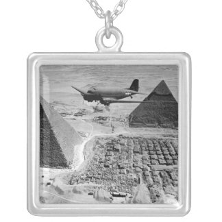 WWII Transport Planes Flying Over Pyramids Pendants