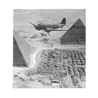 WWII Transport Planes Flying Over Pyramids Notepads