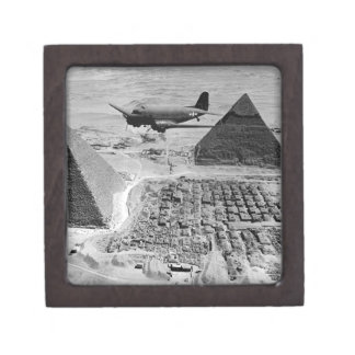 WWII Transport Planes Flying Over Pyramids Premium Keepsake Box