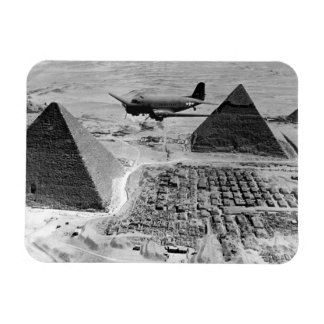 WWII Transport Planes Flying Over Pyramids Magnets