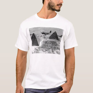 WWII Transport Planes Flying Over Pyramids T-Shirt