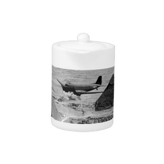 WWII Transport Planes Flying Over Pyramids Teapot