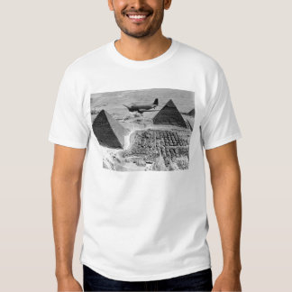 WWII Transport Planes Flying Over Pyramids Tee Shirt