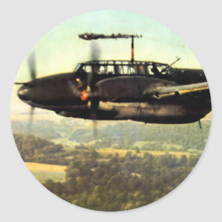 WWII tres Bf-110 alemán Pegatina Redonda