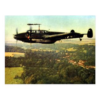 WWII tres Bf-110 alemán Postal