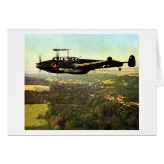 WWII tres Bf-110 alemán Tarjeta Pequeña