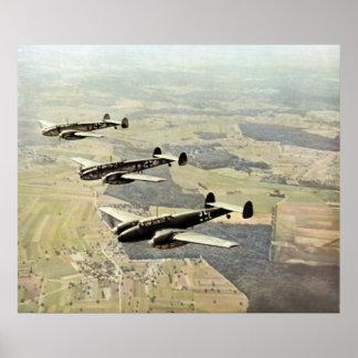 WWII tres Messerschmitt ME-110 Impresiones