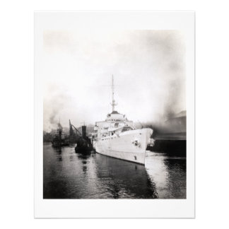 WWII US Coast Guard Cutter Campbell Personalized Announcement