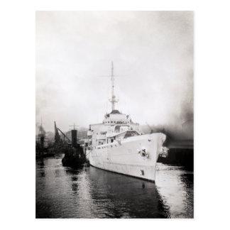 WWII US Coast Guard Cutter Campbell Postcard