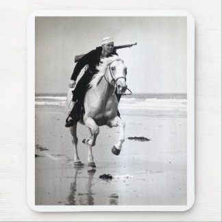 WWII US Coast Guard on Horseback Mouse Pad
