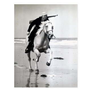 WWII US Coast Guard on Horseback Postcard