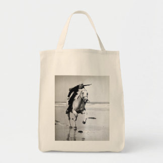 WWII US Coast Guard on Horseback Tote Bag