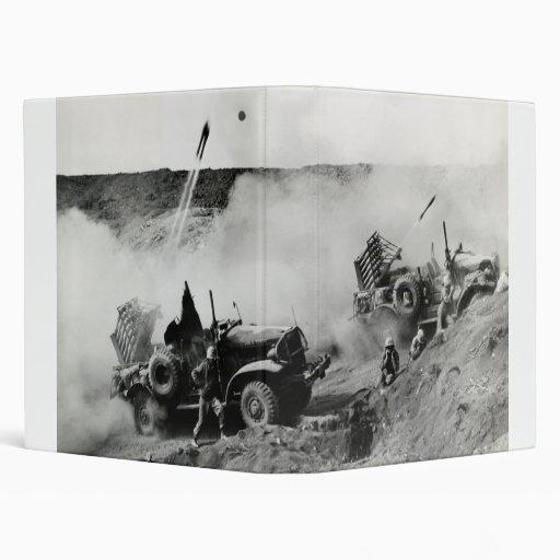 WWII US Marine truck mounted Rockets, Iwo Jima Binder