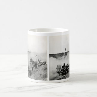 WWII US Marine truck mounted rockets, Iwo Jima Coffee Mug