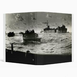 WWII US Marines assault Iwo Jima 3 Ring Binder