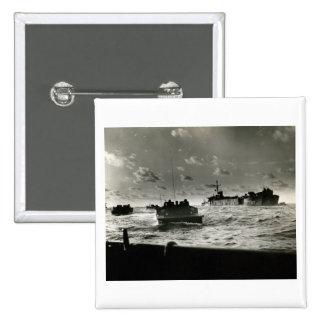WWII US Marines assault Iwo Jima Button
