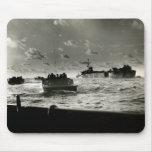 WWII US Marines assault Iwo Jima Mouse Pads