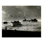 WWII US Marines assault Iwo Jima Posters