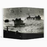 WWII US Marines assault Iwo Jima Vinyl Binder