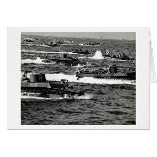 WWII US Marines invade Iwo Jima Greeting Card