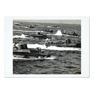 WWII US Marines invade Iwo Jima 5x7 Paper Invitation Card