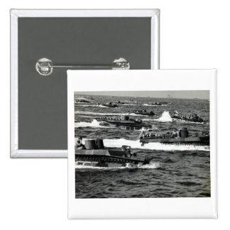 WWII US Marines invade Iwo Jima Pins