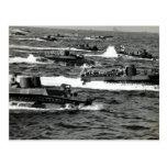 WWII US Marines invade Iwo Jima Postcard