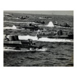 WWII US Marines invade Iwo Jima Poster