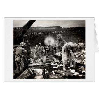 WWII US Marines on Iwo Jima Greeting Card