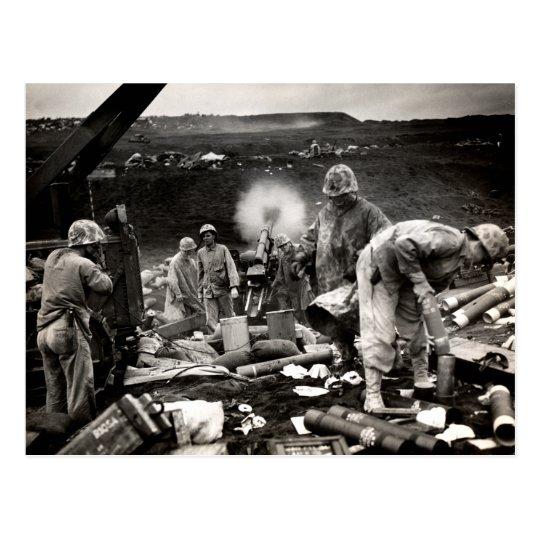 WWII US Marines on Iwo Jima Postcard