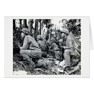 WWII US Marines on Peleliu Greeting Card