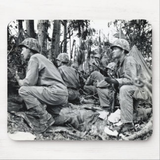 WWII US Marines on Peleliu Mouse Pad