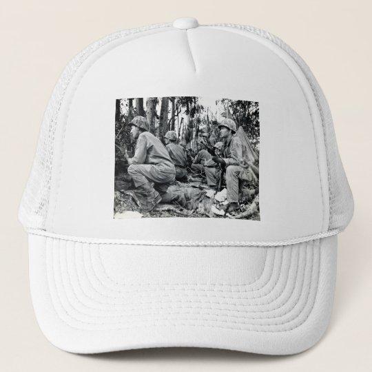WWII US Marines on Peleliu Trucker Hat