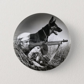 WWII USCG at Work Pinback Button