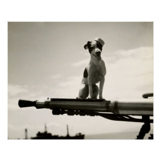 WWII USCG Dog named Kelly Poster