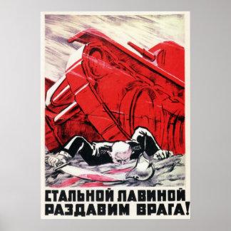 WWII USSR Soviet Propaganda 1942 Poster