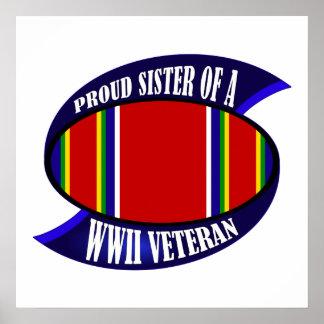 WWII Vet Sister Poster