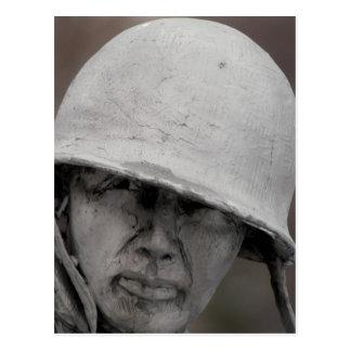 WWII Veteran Statue Postcard