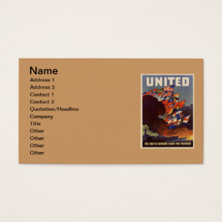 WWII Vintage Poster Business Card