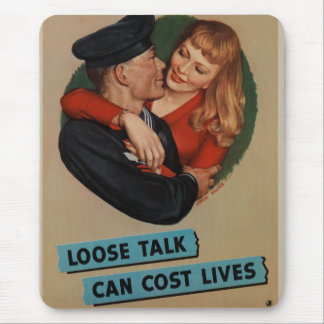 WWII Vintage Poster Mouse Pad