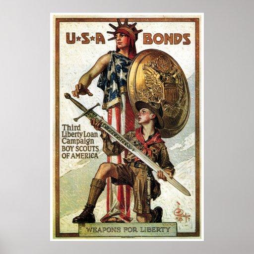 WWII War Bonds Print