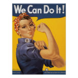 """WWII  """"We Can Do It!"""" Print"""