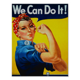 WWII We Can Do It Rosie the Riveter Poster