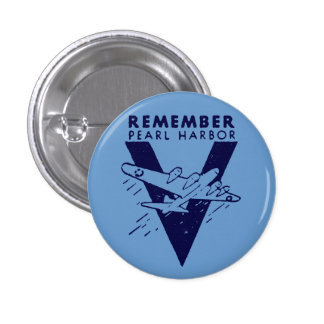 WWII White Remember Pearl Harbor Buttons