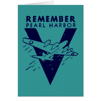 WWII White Remember Pearl Harbor Card